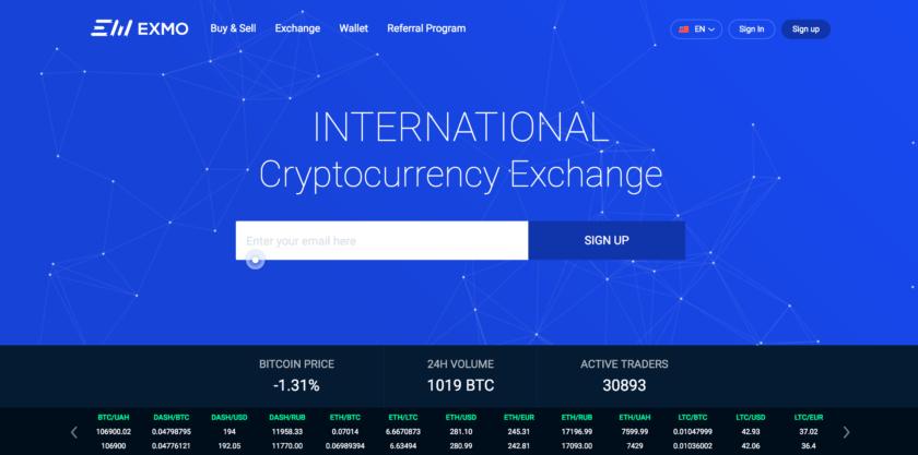 exmo биржа криптовалют