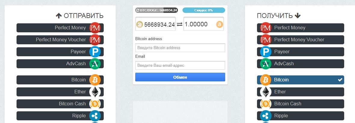 лучший обменник криптовалюты